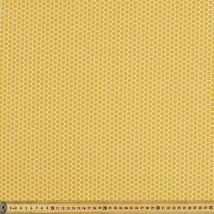 Honeycomb Printed 112 cm Naturally Organic Poplin Fabric