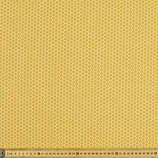 Honeycomb Printed 112 cm Naturally Organic Poplin Fabric