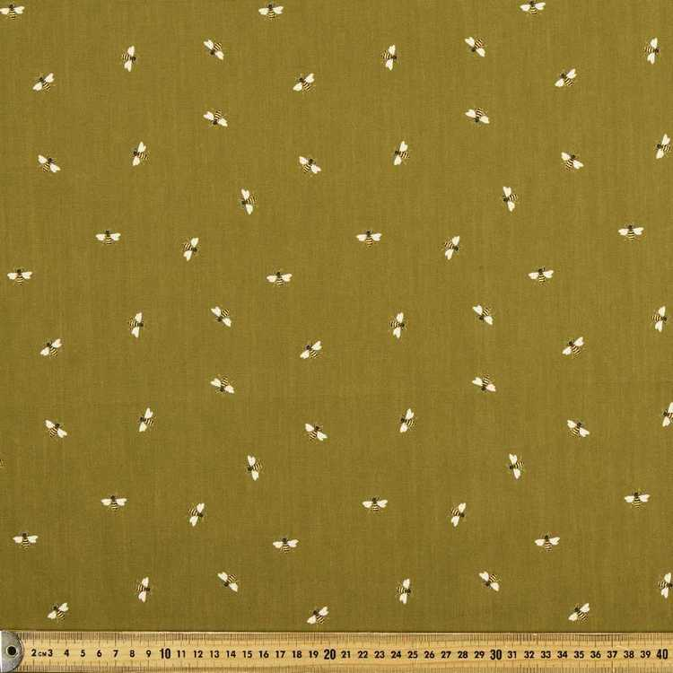 What A Buzz Printed 112 cm Naturally Organic Poplin Fabric