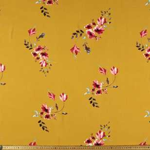 Ruby Flowers Printed 112 cm Rayon Fabric