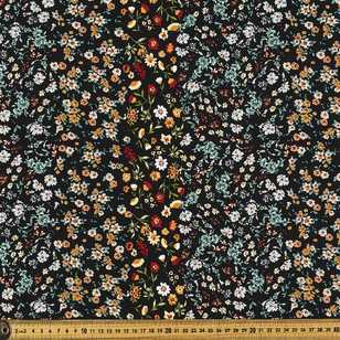 Graduating Floral Printed Rayon Fabric