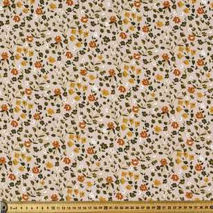 Autumn Tones Printed 112 cm Rayon Fabric