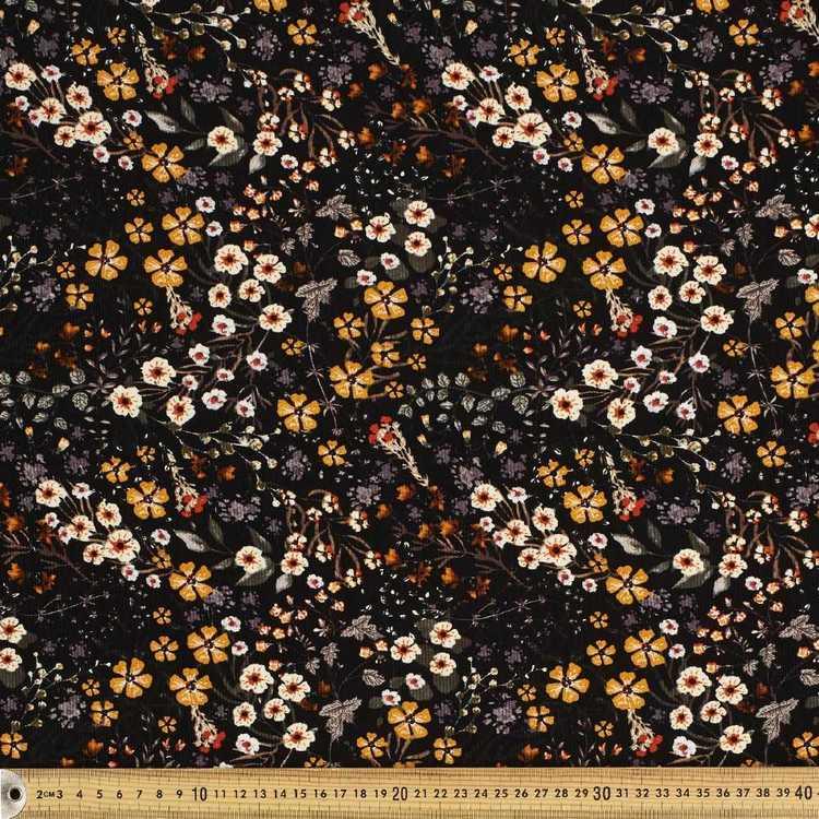 Mustard Haze Printed 112 cm Pinwale Cord Fabric