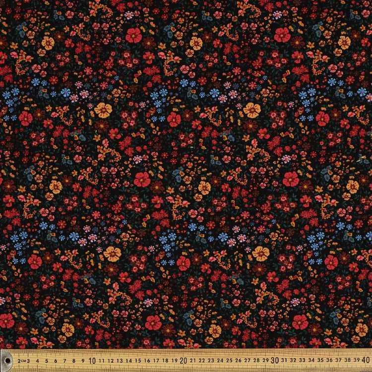 Meadow Printed 112 cm Pinwale Cord Fabric