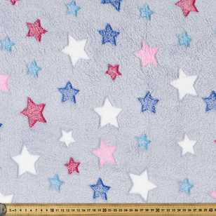 Star Printed 147 cm Burnout Fleece Fabric