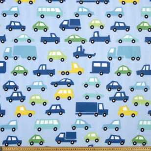 Cars & Trucks Printed 148 cm Peak Polar Fleece Fabric