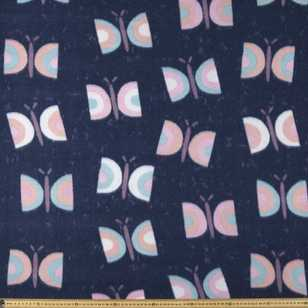 Butterfly Printed 148 cm Peak Polar Fleece Fabric