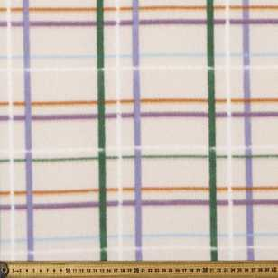 220 cm Checks #3 Printed Wide Width Polar Fleece Fabric