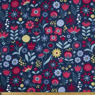 Floral Garden Printed 148 cm Peak Polar Fleece Fabric