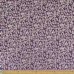Cheetah Printed 148 cm Foil Panne Fabric