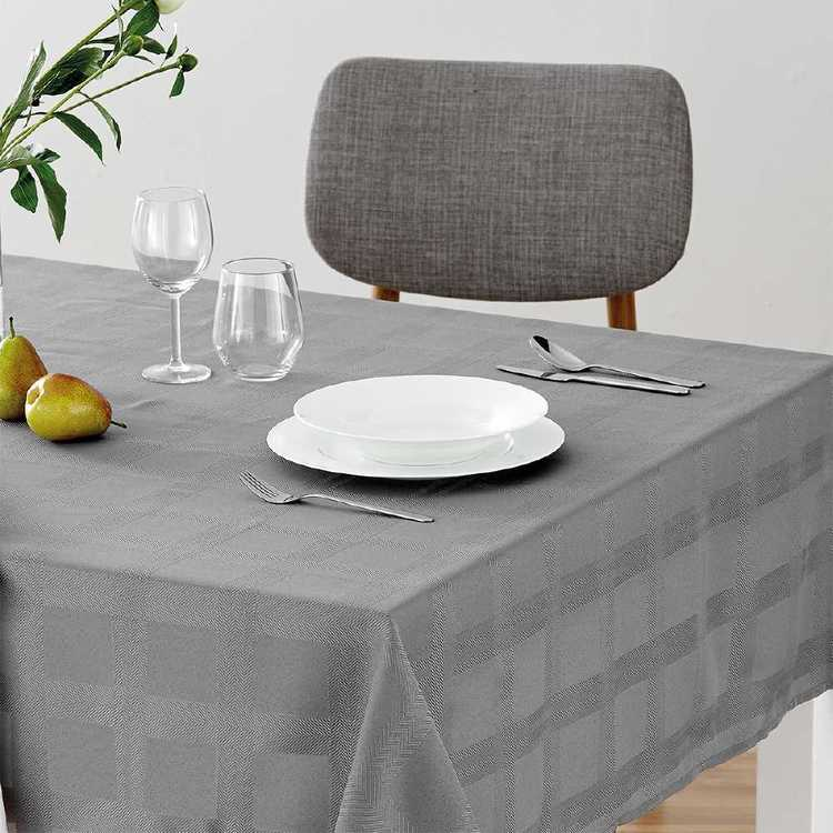 Dine By Ladelle Nevada Tablecloth Charcoal