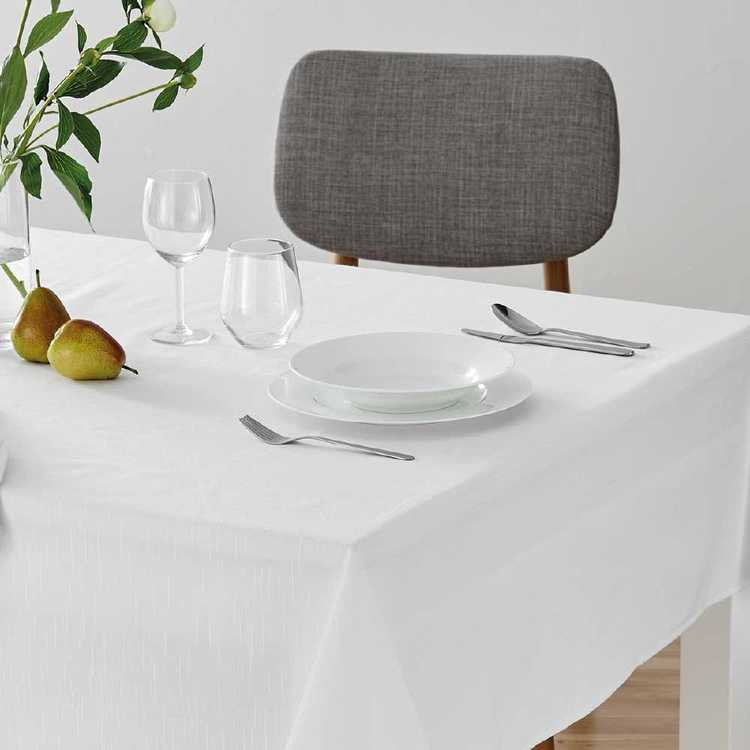 Dine By Ladelle Emerson White Table Cloth White