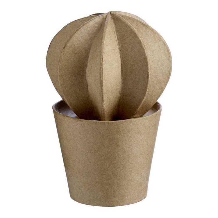Craftsmart Round Cactus Paper Mache
