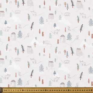 Happy Trails Printed 112 cm Organic Poplin Fabric