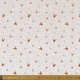 Fox & Friends Printed 112 cm Organic Poplin Fabric