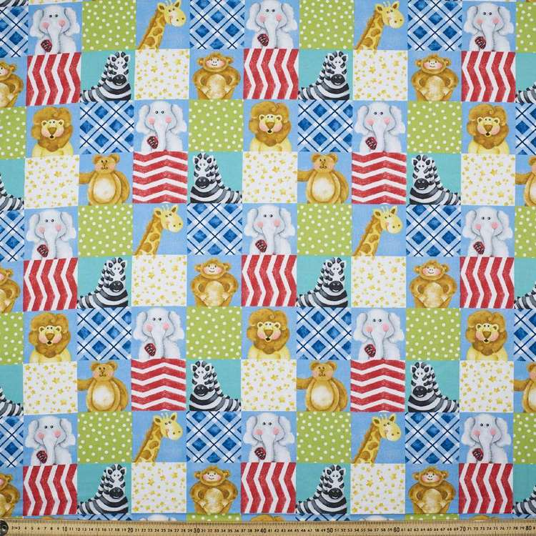 A E Nathan Zoo Baby Patchwork Cotton Fabric