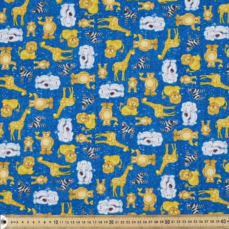 A E Nathan Zoo Baby Allover Cotton Fabric