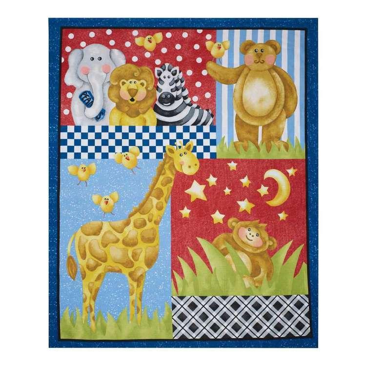 A E Nathan Zoo Baby Cotton Panel
