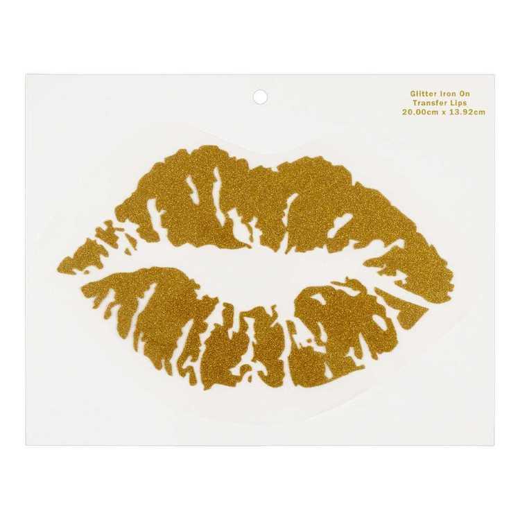 Glitter Lips Iron On Transfer
