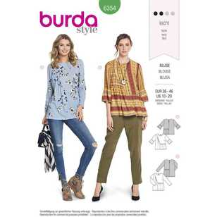 Burda Pattern 6354 Misses' Blouses