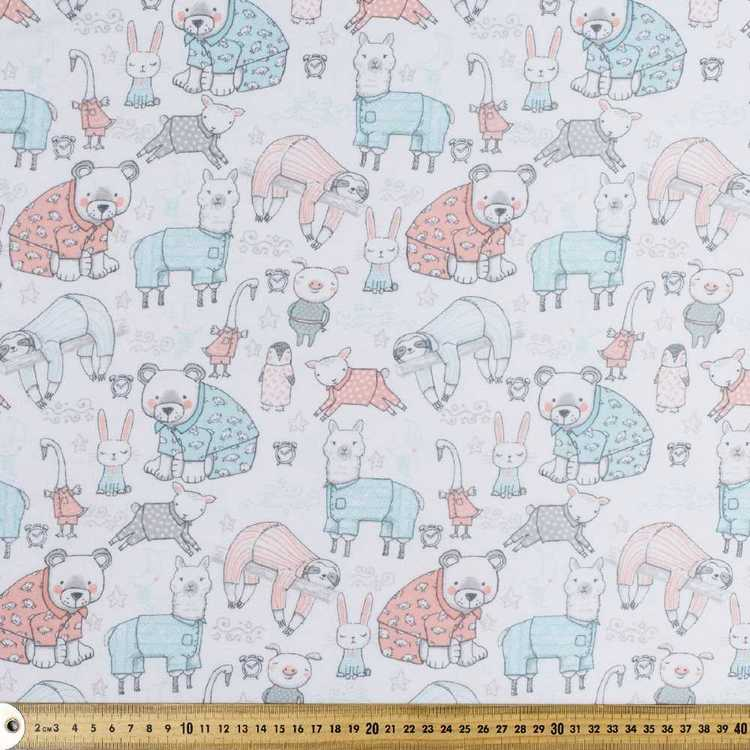 Pj Party Printed Flannelette Fabric