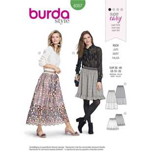 Burda Pattern 6357 Misses' Skirts