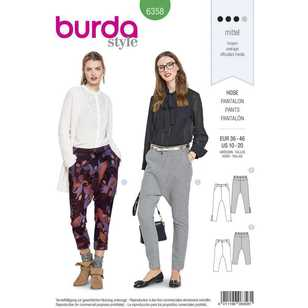 Burda Pattern 6358 Misses' Pants