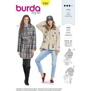 Burda Pattern 6360 Misses' Jackets