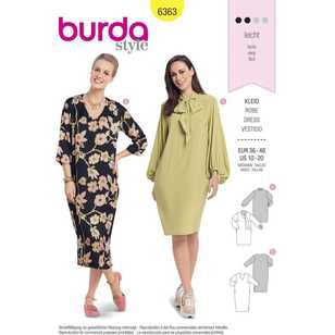 Burda Pattern 6363 Misses' Dresses