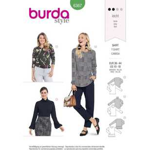 Burda Pattern 6367 Misses' Tops