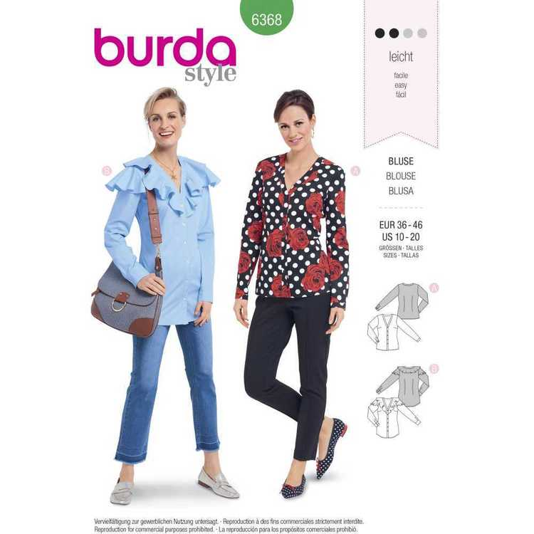 Burda Pattern 6368 Misses' Shirts