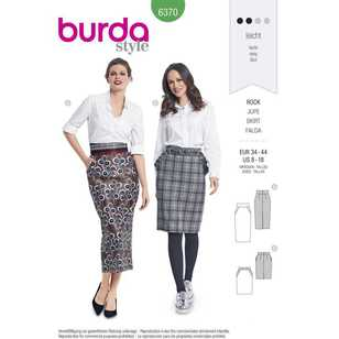 Burda Pattern 6370 Misses' Pencil Skirts