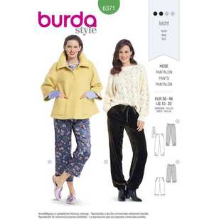 Burda Pattern 6371 Misses' Pants