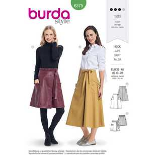 Burda Pattern 6375 Misses' Wrap Skirt