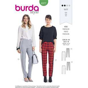 Burda Pattern 6377 Misses' Pants