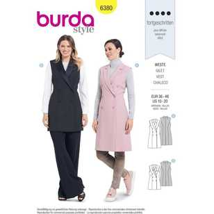 Burda 6380 Misses' Double Breasted Coats