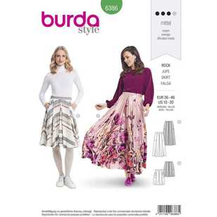 Burda Pattern 6386 Misses' Full Skirts