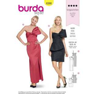 Burda Pattern 6388 Misses' Dresses with Bow