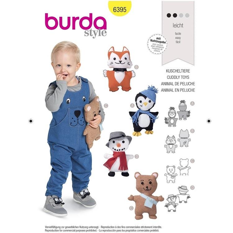 Burda Pattern 6395 Stuffed Animals