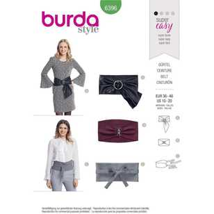 Burda Pattern 6396 Belts with Variations