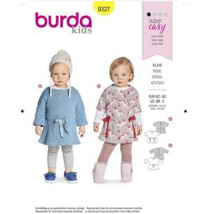 Burda Pattern 9327 Baby's Dresses
