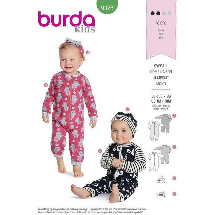 Burda Pattern 9328 Baby's Romper