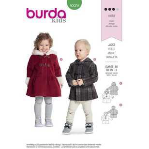 Burda Pattern 9329 Toddler's Coats