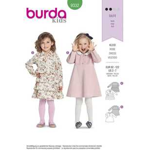 Burda Pattern 9332 Children's Dresses