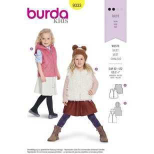 Burda Pattern 9333 Children's Fur Vests