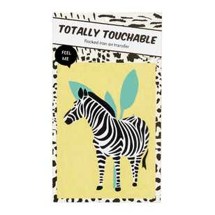 Totally Touchable Zebra Iron On Transfer