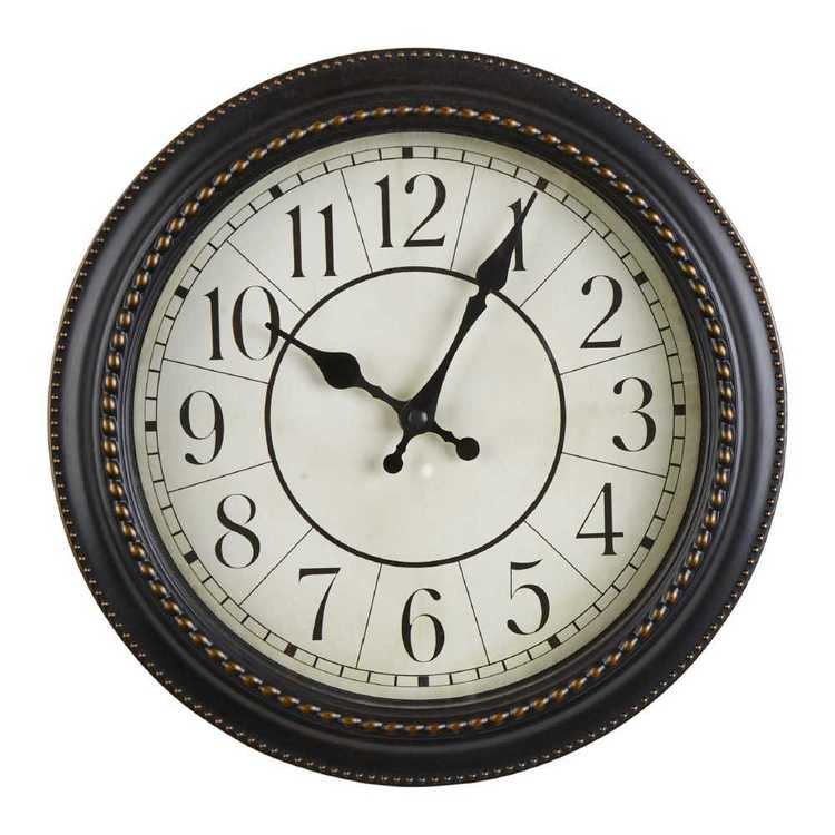 Living Space Classic Clock Copper 28 cm