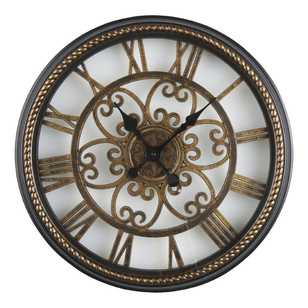 Living Space Clock With Roman Numerals