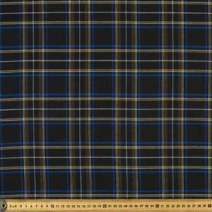 Checks Viscose Poly Stretch Fabric