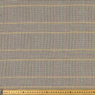 Country Check Viscose Poly Stretch Fabric